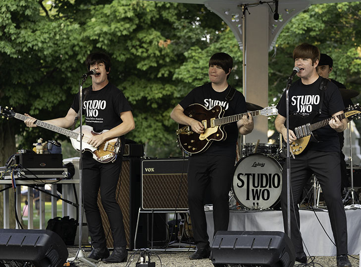 Studio Two perform at the Concerts on the Common in Waltham on July 30, 2019