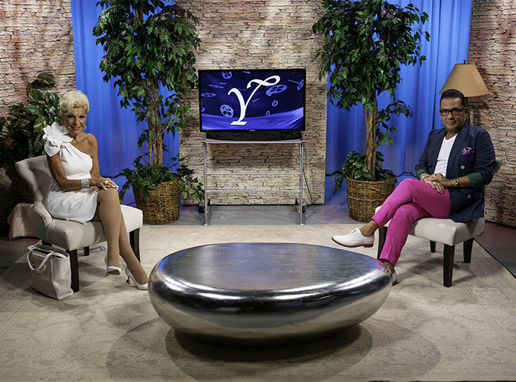 Yolanda with Gustavo Leon after taping an episode of Yolanda Style & Glamour