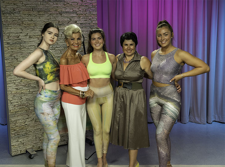 Yolanda and Irina Gorbman with models after shooting an episode of Yolanda Style & Glamour