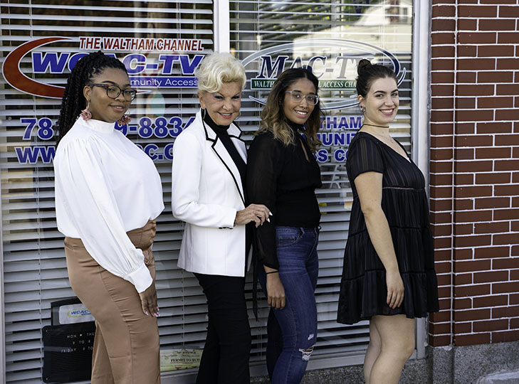 Ashleigh McKoy, Yolanda, Waina Gonzalez and Alessandra Amatucci after taping an episode of Yolanda Style and Glamour