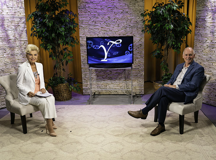 Yolanda with Tim Braceland after taping an episode of Yolanda Style & Glamour